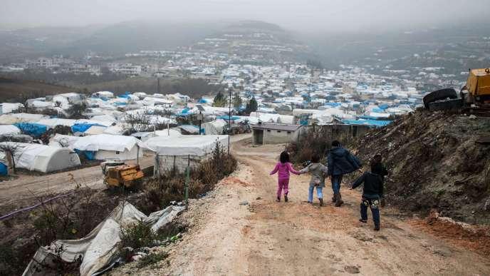Le camp pour personnes déplacées de Khirbet Al-Joz, dans l'ouest de la province d'Idlib, en décembre 2019.