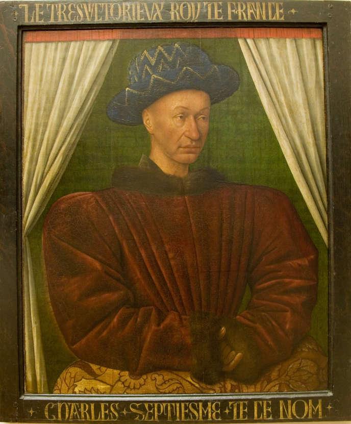 Charles VII, par Jean Fouquet, vers 1450-1455, musée du Louvre.
