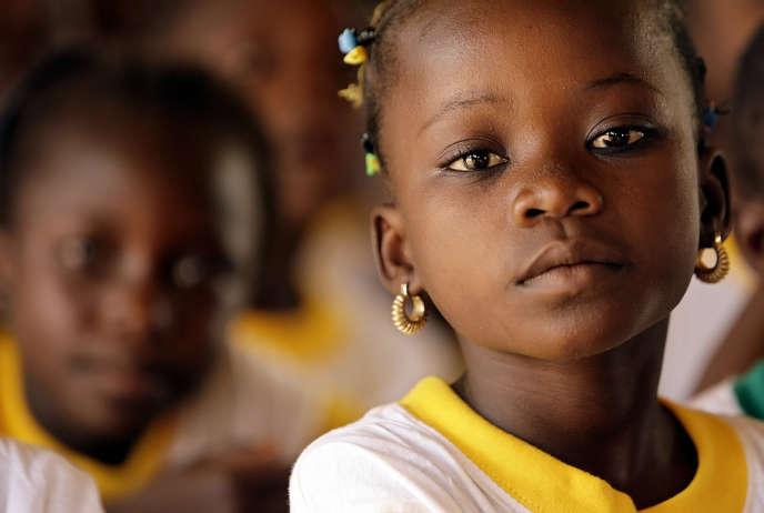 Dans une école primaire du Burkina Faso.