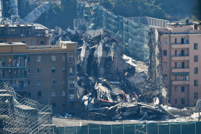 L'effondrement du pont Morandi, à Gênes, en août 2018, a fait 43 morts.