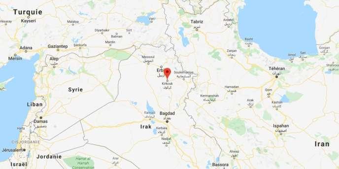 Kirkouk, dans le nord de l'Irak.