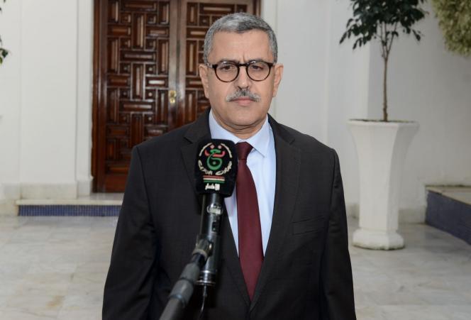 Abdelaziz Djerad, samedi 28 décembre à Alger.