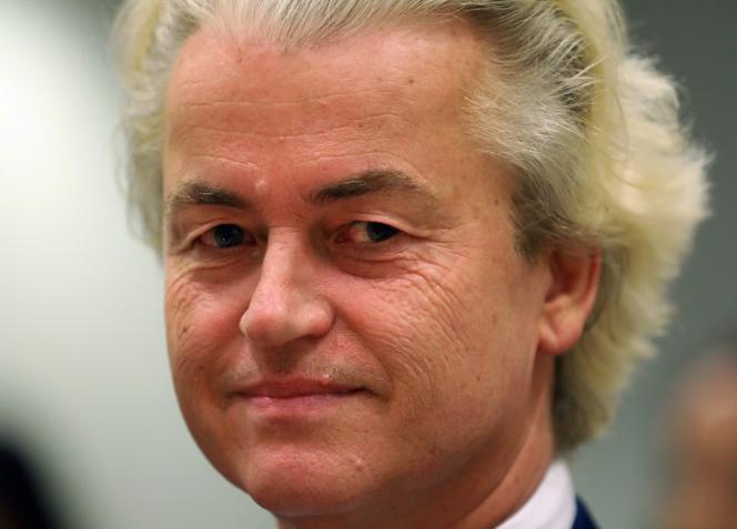 M. Wilders, chef du Parti pour la liberté (PVV), le 25 juin à Amsterdam.