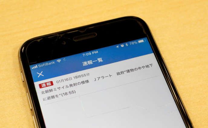 La NHK avait déjà envoyé une alerte erronée sur un missile nord-coréen, le 16 janvier 2018.