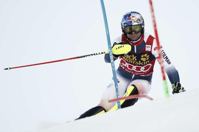 Alexis Pinturault lors de l'épreuve de slalom à Bormio, en Italie, le 29 décembre.