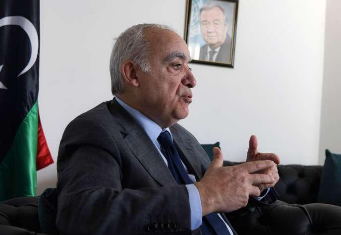 Ghassan Salamé, le chef de la mission des Nations unies pour la Libye, à Tunis, le 29 novembre.