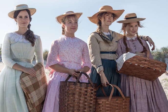 De gauche à droite : Emma Watson (Meg), Florence Pugh (Amy), Saoirse Ronan (Jo) et Eliza Scanlen (Beth).