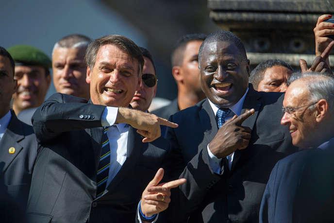 Jair Bolsonaro et le député Hélio Lopes, à Rio de Janeiro, en mai 2019.