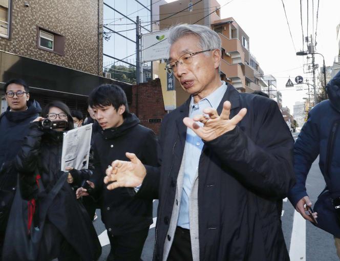 Junichiro Hironaka, principal responsable de la défense de Carlos Ghosn, à Tokyo, le31décembre2019.