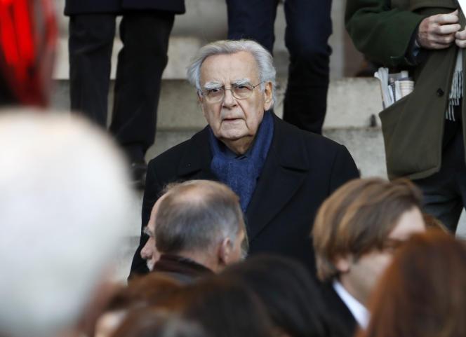 Bernard Pivot à Paris, le 29 novembre 2016.