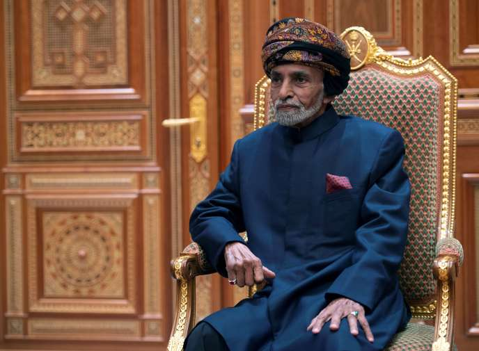 Le sultan d'Oman, Qabous Ben Saïd, dans le palais royal de Mascate, en janvier 2019.