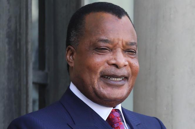 Le président congolais, Denis Sassou-Nguesso, au palais de l'Elysée, à Paris, le 3septembre 2019.