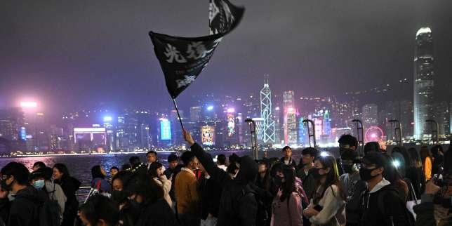 A Hongkong, les manifestants forment des chaînes humaines pour leNouvelAn