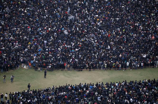 Manifestation à Hongkong, le 1er janvier.