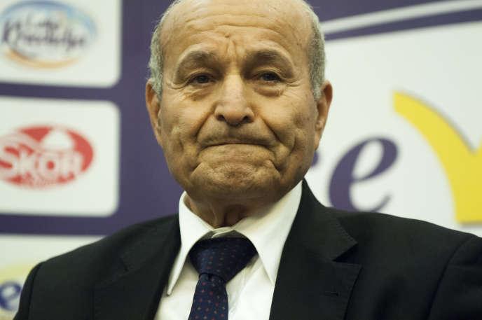 Issad Rebrab, dirigeant du groupe Cevital, première entreprise privée d'Algérie, à Alger le 8 mai 2016.
