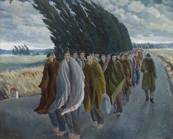 «Camí de l'exili» (1940), de Josep Franch Clapers, huile sur toile, 176 × 143,5 cm.