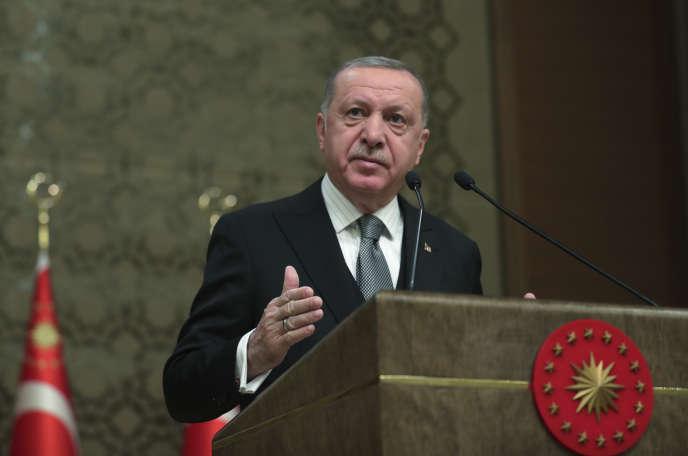 Le président turc Recep Tayyip Erdogan prononce un discours à Ankara, le jeudi 2janvier.