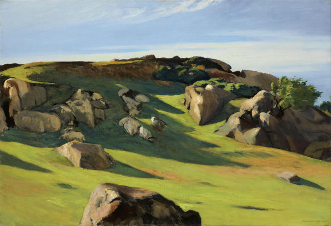 «Cape Ann Granite» (1928), d'Edward Hopper, huile sur toile.