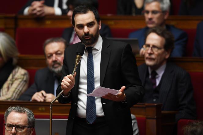Laurent Saint-Martin à l'Assemblée nationale, le 30 janvier 2018.