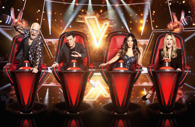 Les jurés de « The Voice » 2020. L'émission de TF1 connait une certaine usure. En 2019, sa part d'audience a diminué de 0,7 point pour s'établir à 19,5 %.