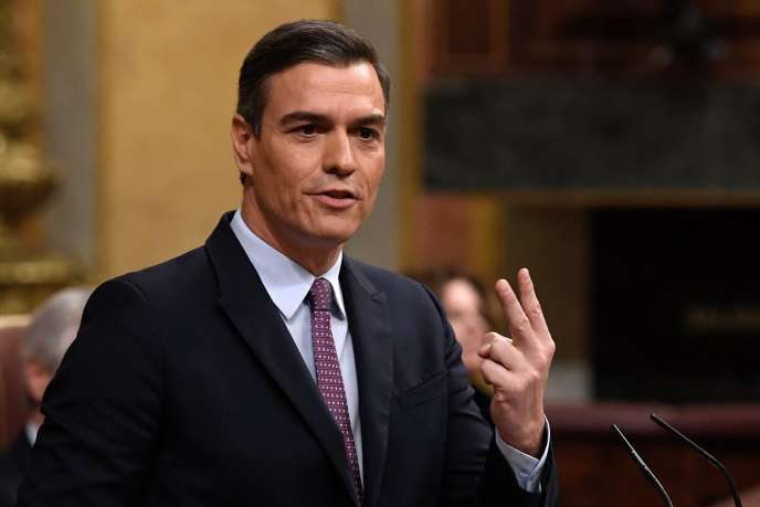 Le socialiste Pedro Sanchez lors du débat d'investiture au Parlement espagnol à Madrid, le 4janvier.