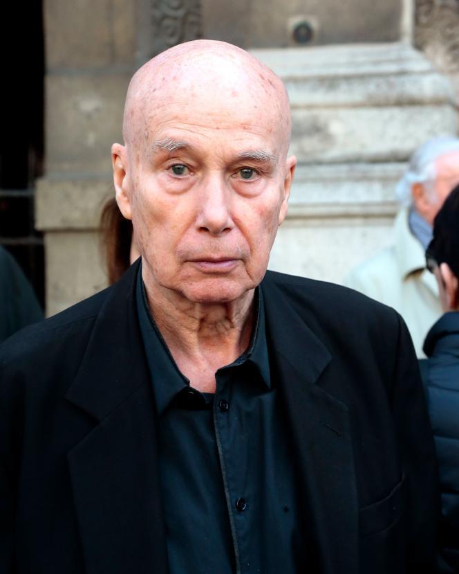 L'écrivainGabriel Matzneff, à Paris, le 10 avril 2014.