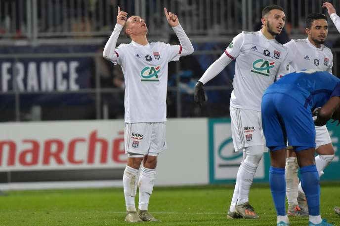 Maxence Caqueret a inscrit le sixième des sept buts lyonnais face à Bourg-en-Bresse.