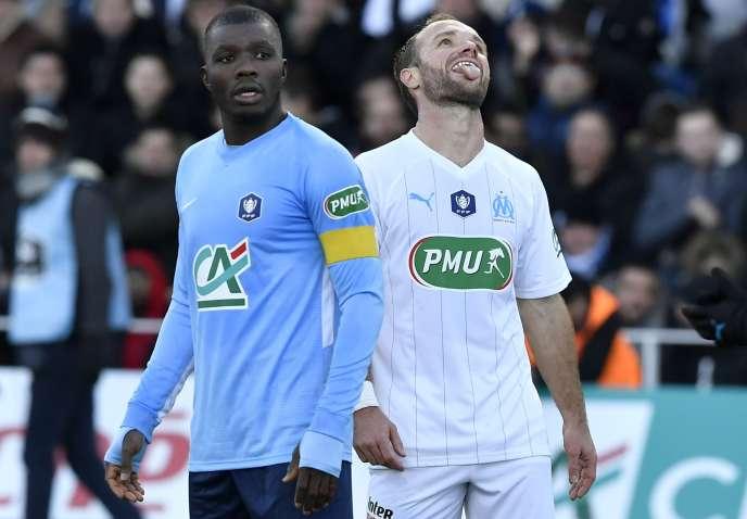 L'attaquant de l'OM Valere Germain lors du match face à Trélissac, le 5 janvier.