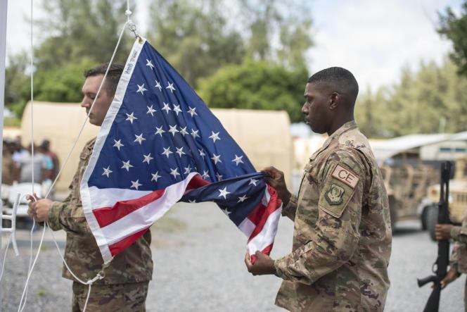 Des soldats américains au camp Simba, près de Lamu, au Kenya, en août 2019.