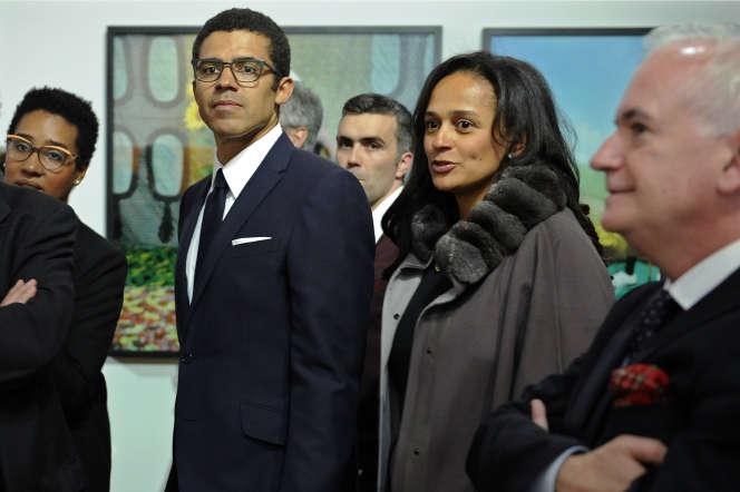 Sindika Dokolo, avec son épouse, la milliardaire Isabel dos Santos, en mars 2015 au Portugal.