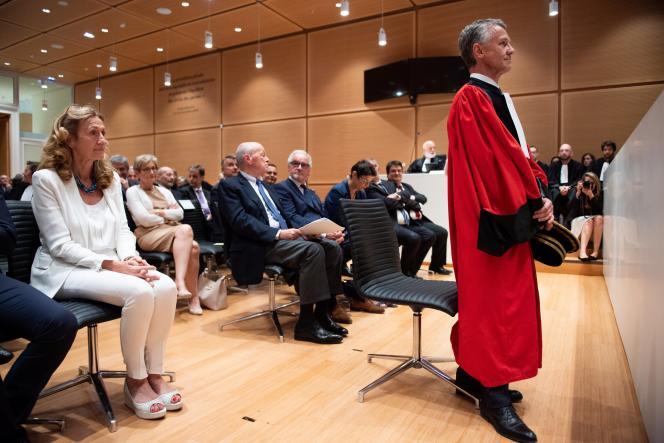Le procureur Jean-François Ricard assiste à une séance solennelle du nouveau parquet national antiterroriste, au palais de justice de Paris, le 3 juillet.