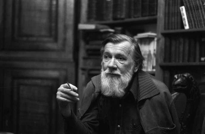 L'écrivain Andreï Siniavski, père de Iegor Gran, en 1988.