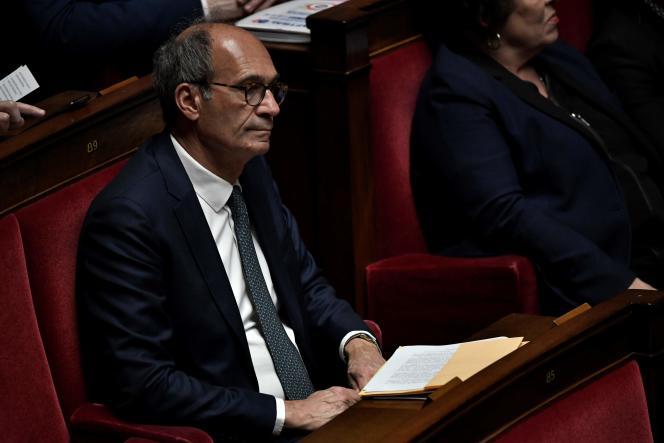 Le président de la commission des finances, Eric Woerth (LR), dans l'hémicycle de l'Assemblée nationale, mardi 7 janvier.
