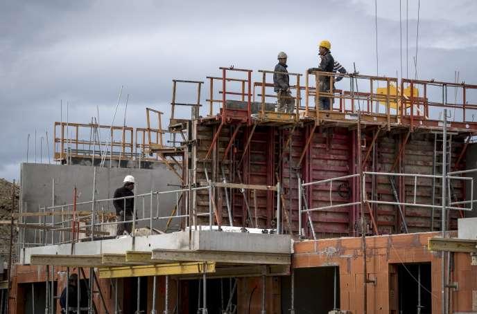 Sur un chantier à Castanet-Tolosan (Haute-Garonne), près de Toulouse, en octobre 2018.
