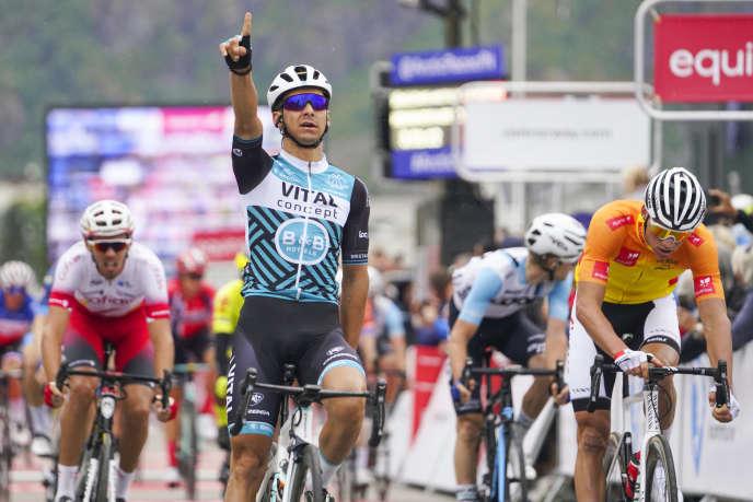Bryan Coquard, victorieux d'une étape lors de laArctic Race of Norway, en août 2019.