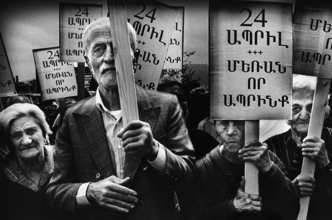 Commémoration du génocide des Arméniens, à Beyrouth (Liban), en 2000.