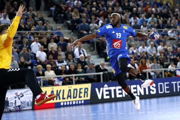 Luc Abalo, lors du match contre la Serbie, le 3 janvier à Metz.