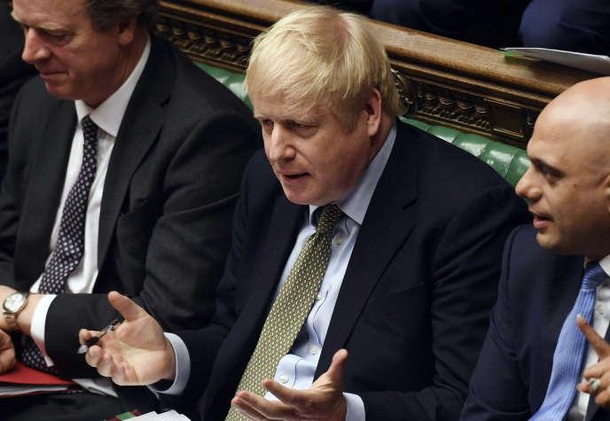 Boris Johnson au Parlement britannique, le 8 janvier à Londres.