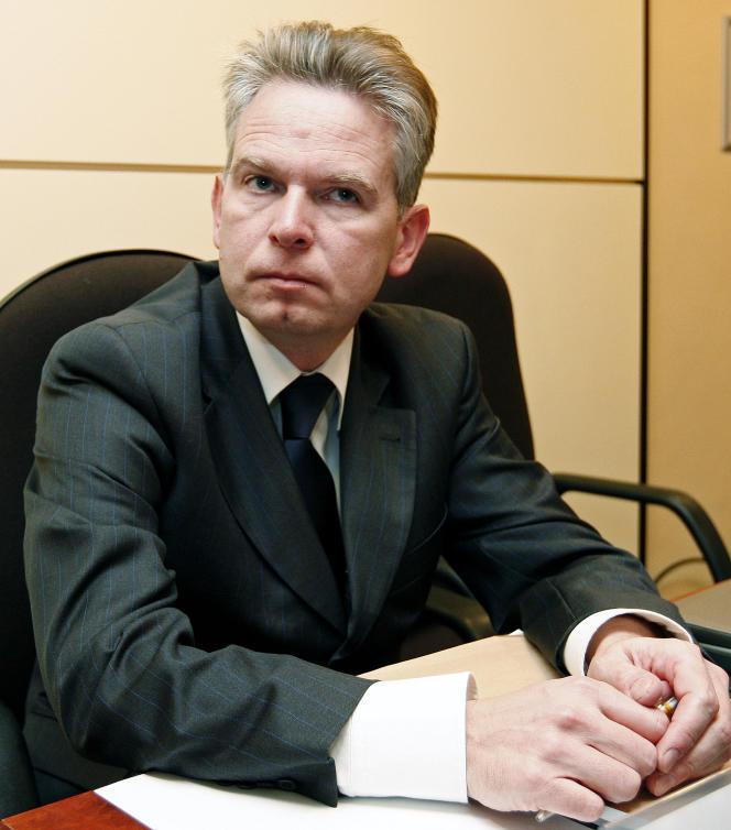 Luc Lallemand, alors patron de l'infrastructure ferroviaire belge Infrabel, le 22 février 2010, à Bruxelles. Celui-ci a été désigné, le 7 janvier, par le conseil d'administration de SNCF Réseau pour devenir PDG de l'entreprise.