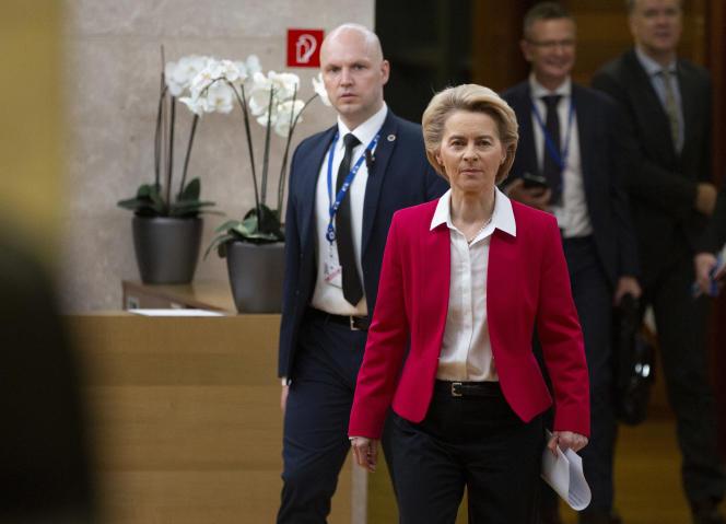 La présidente de la Commission européenne, Ursula von der Leyen, le 8 janvier à Bruxelles.