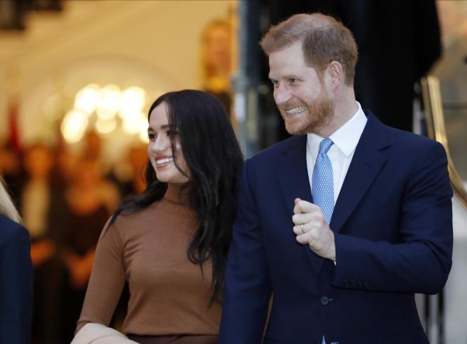 Le prince Harry et Meghan Markle à Londres le 7janvier.