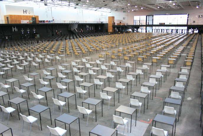 Le centre d'examen de Caen avant le concours d'orthophoniste, en décembre 2017.