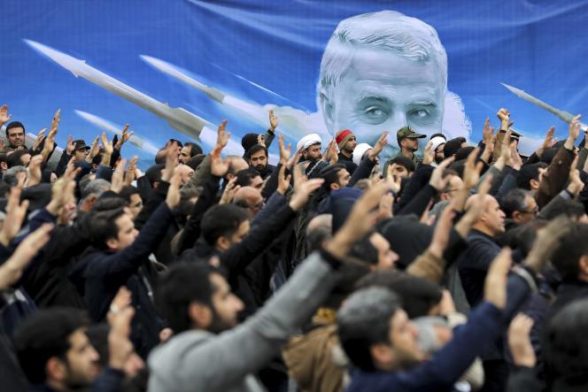 Le 4 janvier, des Iraniens sont decendus dans les rues de Téréran pour dénoncer la frappe américaine qui a tué, la veille,le général Ghassem Soleimani.