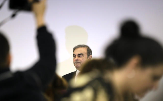 Carlos Ghosn, 8 janvier 2020 à Beyrouth.