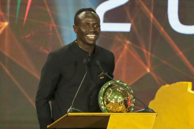 Sadio Mané lors de la cérémonie de remise des prix organisée par la Confédération africaine de football à Hurghada, en Egypte, le 7janvier 2020.