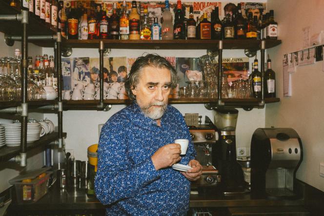 Francis Kuntz, au café Le Festiv', à Paris, le 25 novembre 2019.