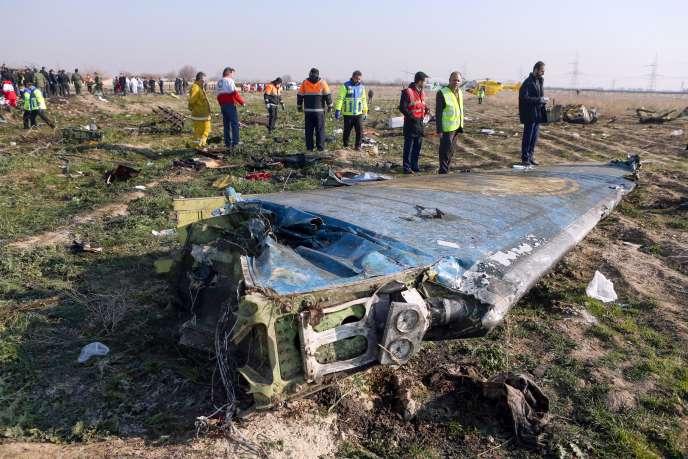 Lieu du crash du Boeing 737, qui s'est écrasé près de Téhéran peu après son décollage, le 8 janvier.