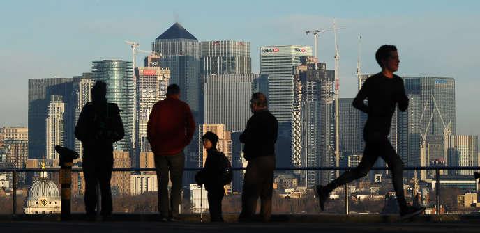 Vue de la City, le quartier d'affaires de Londres, en février.