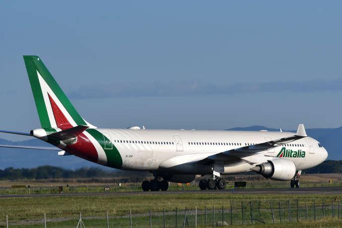 Un Airbus sur le tarmac de l'aéroport Rome-Fiumicino, en mai 2019.