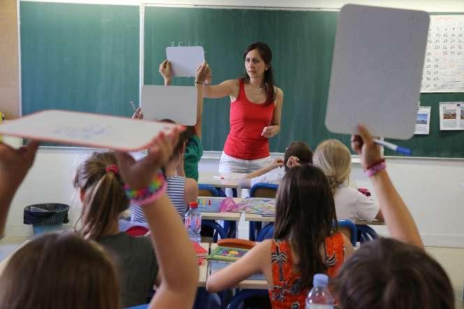 Une classe dans une école primaire, à Montrouge (Hauts-de-Seine).